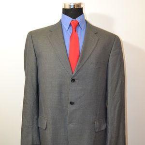 Joseph Abboud 42L Sport Coat Blazer Suit Jacket Bl